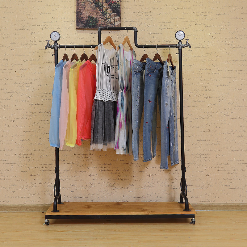 Force chau iron clothing rack clothing store display racks floorstanding retro clothing racks clothing display racks