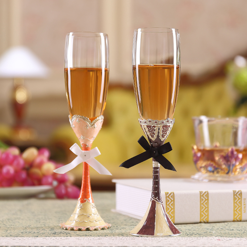 Forever Wedding On The Cup Crystal Glass Of Champagne Goblet Tuba Creative And Practical Wedding Gift