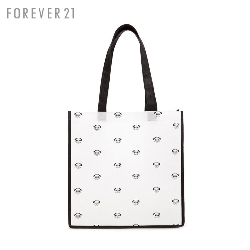c6df44abeaf7 Get Quotations · Forever21 ladies bags reusable shopping bags cute bulldog