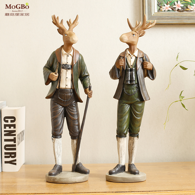 Fort mushrooms creative resin animal ornaments office adventure deer gifts wedding gift home decoration