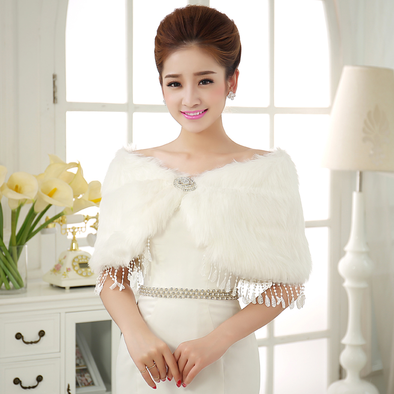 Fortunately good clothes were 2016 new winter korean version of the good wool fringed shawl yarn bride wedding dress thick warm