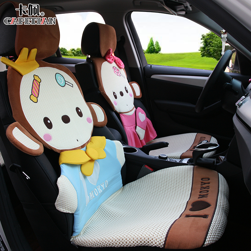 Four seasons general car seat crown monkey pulvinis ladies new winter car seat cover cartoon seat