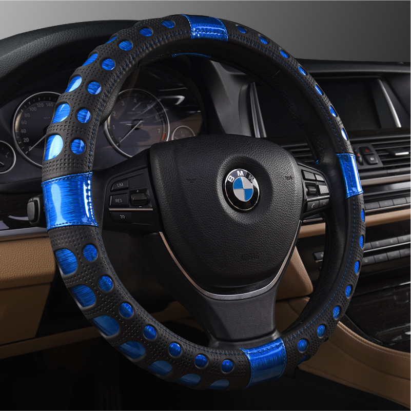 Four seasons general motors to cover summer car leather steering wheel cover new leather seat covers car grips