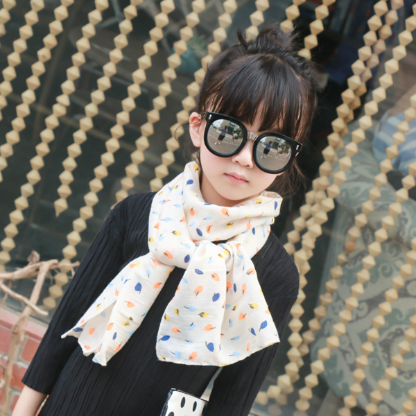 Four seasons korean version of the influx of korean autumn and winter scarves wild child cotton baby boy girl boy child spring and winter