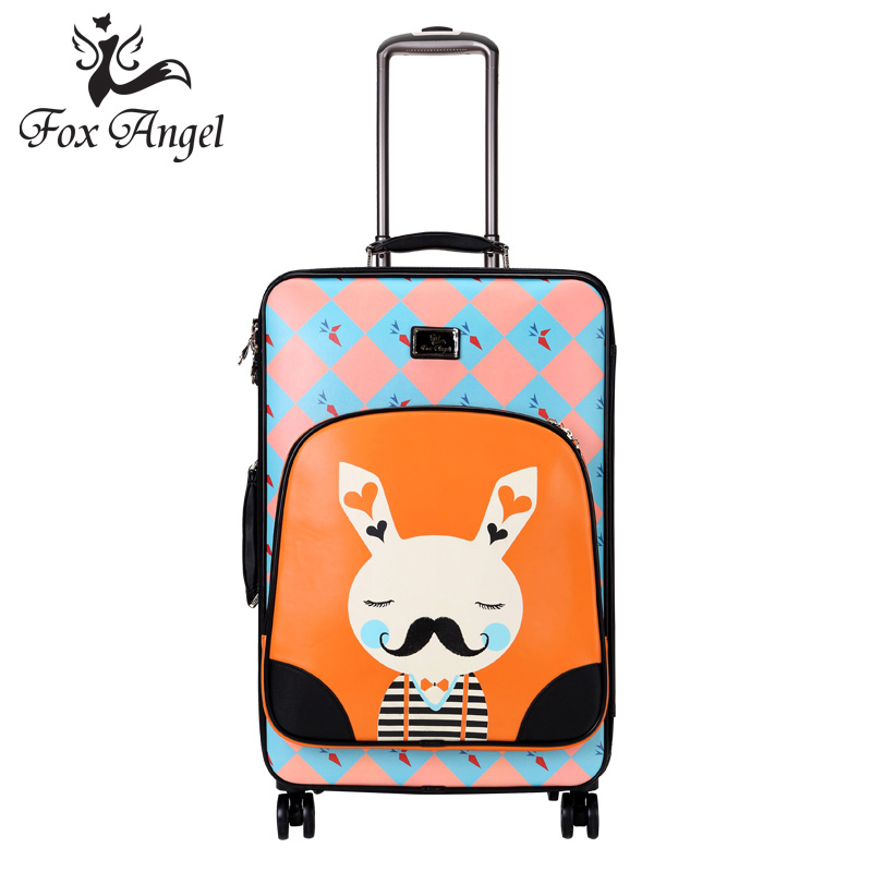 Foxangel personality soft case suitcase aircraft wheel trolley case 20 20-inch board chassis suitcase suitcase female student