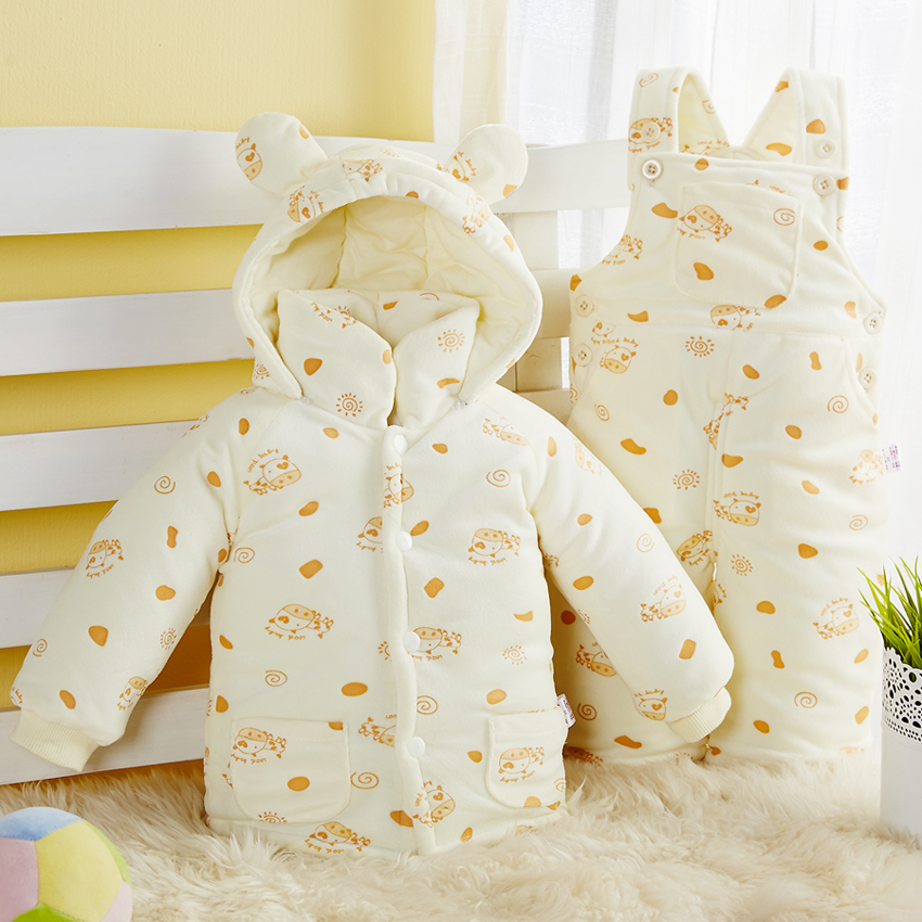 Fragrant buds early infant baby cotton suit cotton trousers overalls trousers fall and winter thick