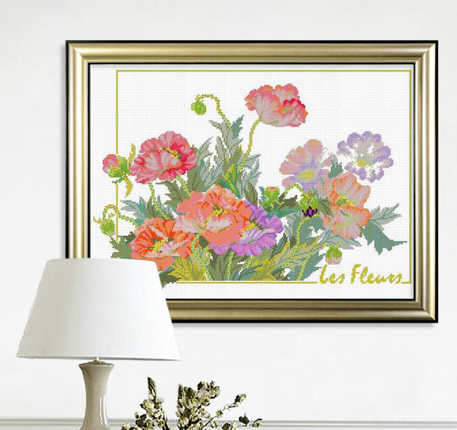 France dmc cross stitch kit genuine monopoly creative elegant fragrance of flowers series of small living room paintings