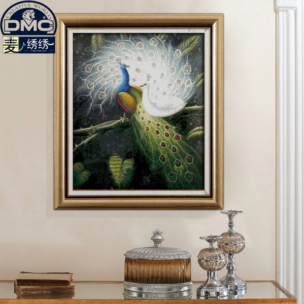 France dmc cross stitch kit monopoly boutique animal series precision printing new living room peacock love