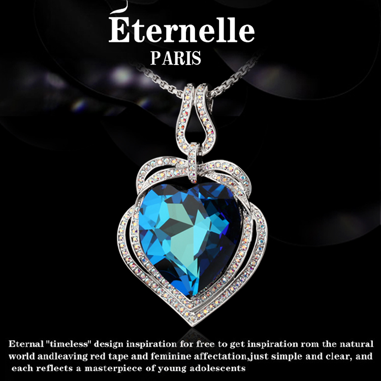 France eternelle using swarovski elements crystal pendant in sterling silver pendant necklace goddess haiyangzhixin