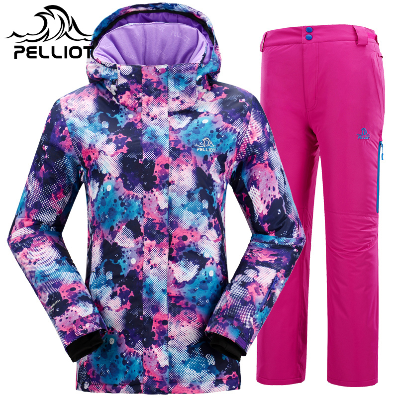 Get Quotations · France pelliot outdoor ski suit female odd and even plate  professional windproof warm ski clothes suit 03ba9d160