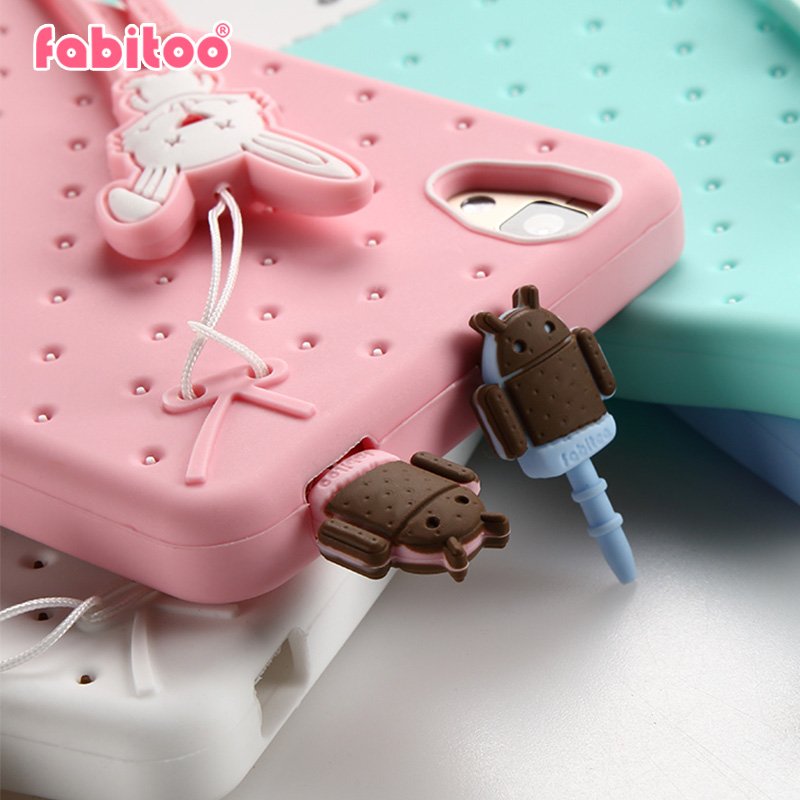 France pyrene rabbit dust plug pendant cute cartoon fashion silicone dust plug headphone jack dust plug the phone