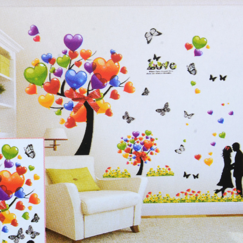 Free shipping 3d stereoscopic wall stickers living room bedroom background scenery background diy wall stickers wall sticker decal sticker wall paintings
