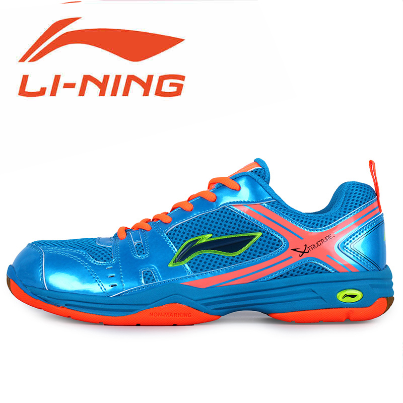 Free shipping authentic new custom men's li ning li ning badminton shoes lightweight sports shoes breathable wear and 097