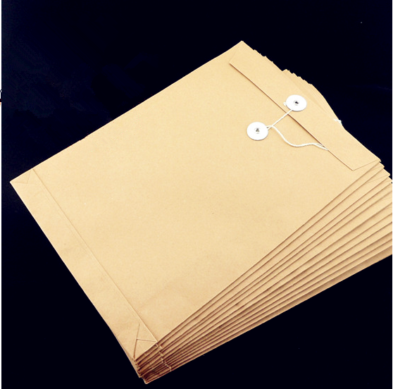 Free shipping blank portfolio portfolio portfolio thick kraft paper bags portfolio a4200g kraft paper bag no word document information kits