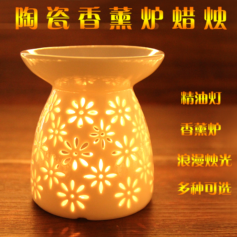 Free shipping ceramic incense smoke vaporizer fragrance lamp oil furnace oil lamp candle vaporizer variety of optional