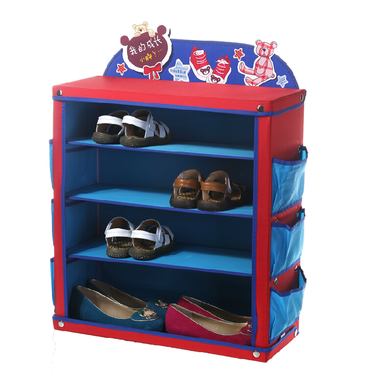 get quotations free shipping early childhood growing baby shoe shoe rack home storage box cartoon folding storage