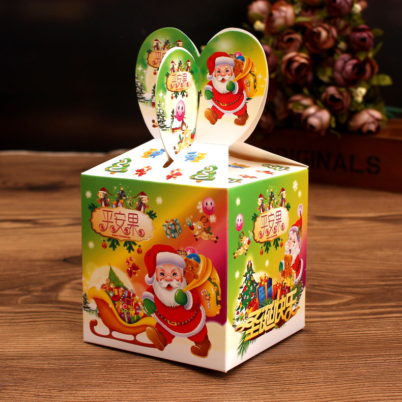 Free shipping christmas apple box fruit box christmas eve guo he creative christmas apple box