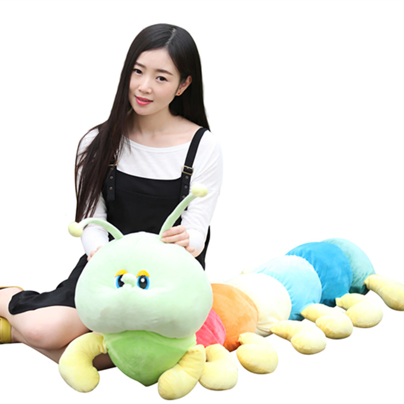 Free shipping colorful caterpillar plush toy doll cute pillow doll birthday gift ideas for children