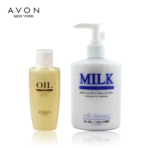 Free shipping counters authentic avon/avon cleansing milk 200ML send cleansing oil 60 ml removable makeup