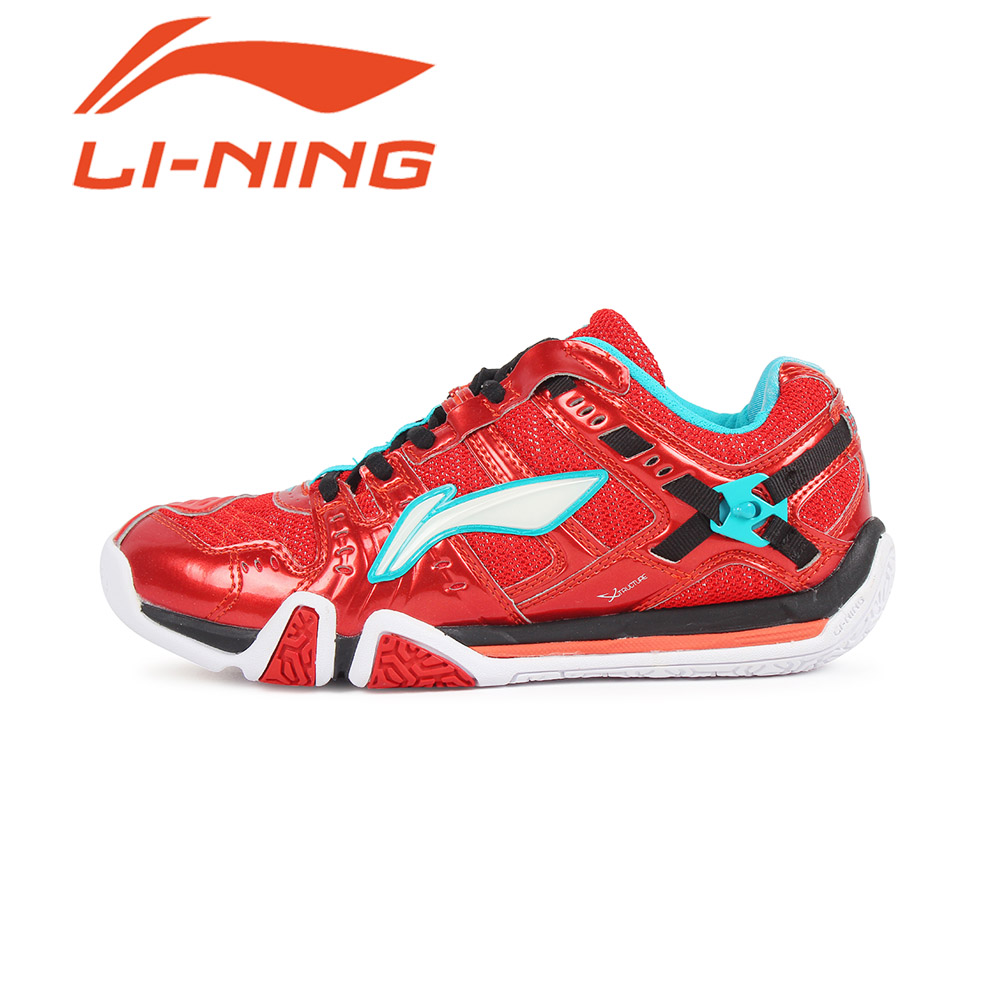 Free shipping counters authentic li ning/lining female models sweat slip resistant badminton shoes ayaj008