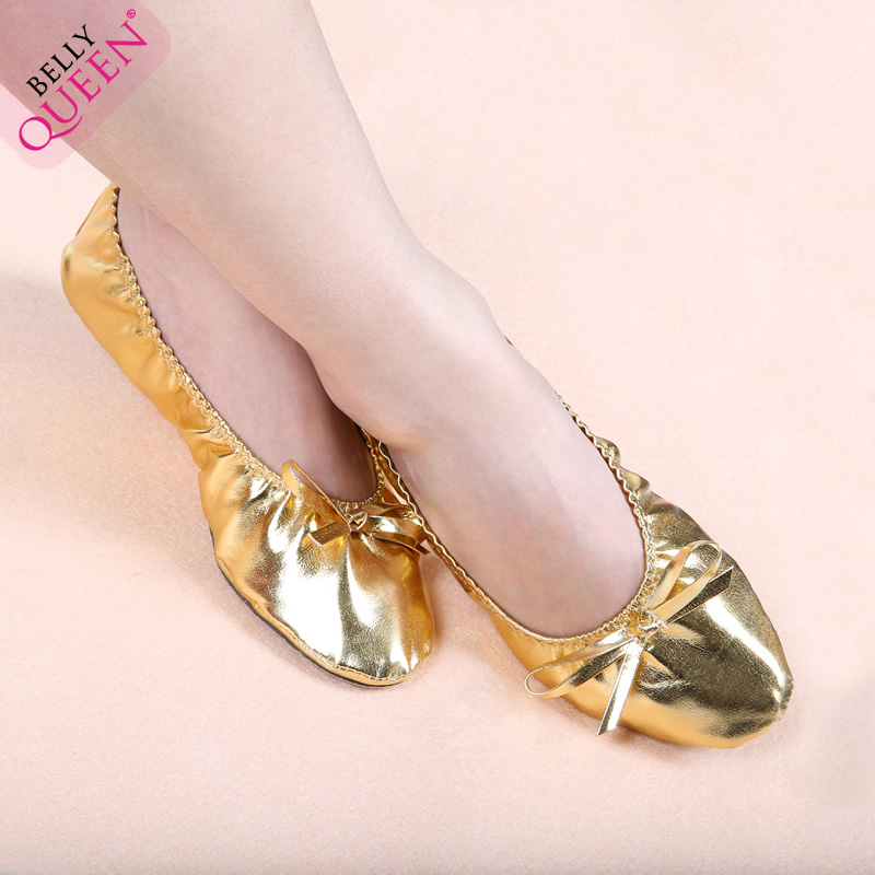 Free shipping dancers gold flat shoes new belly dance belly dance belly dance performance practice practice shoes soft soled shoes