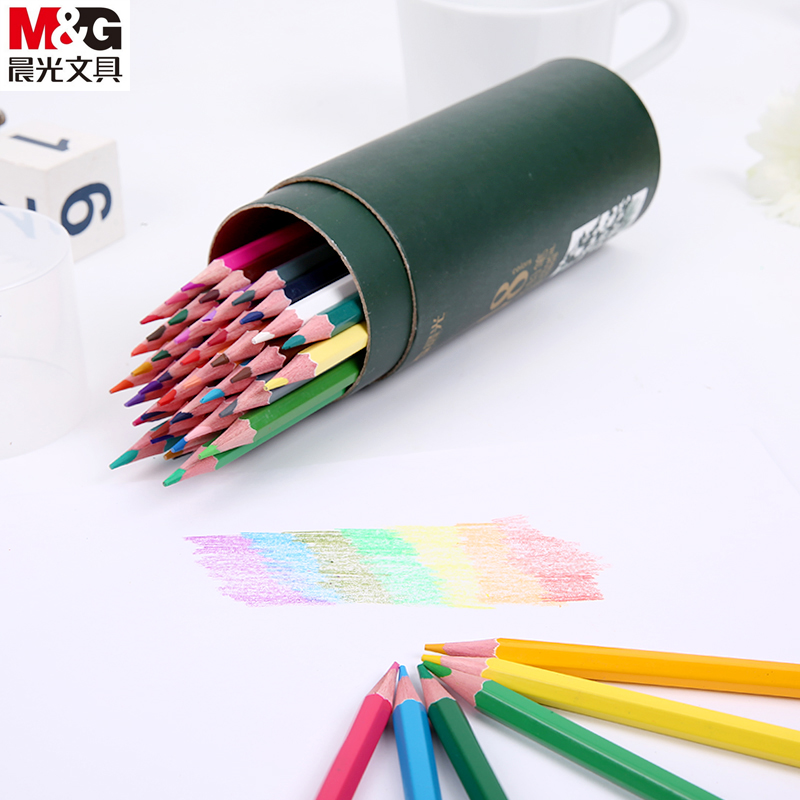Free shipping dawn colored pencils 12/18/24/36 coloring painting students of color lead color lead pencil barrels
