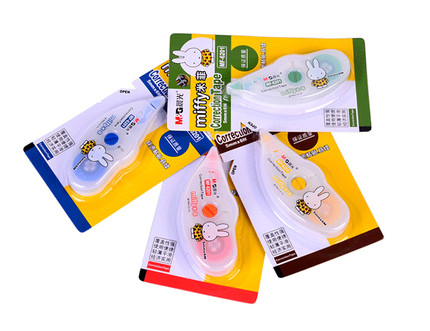 Free shipping dawn correction tape with cute cartoon student stationery miffy mf6201 altered with correction tape 12 12个boxed