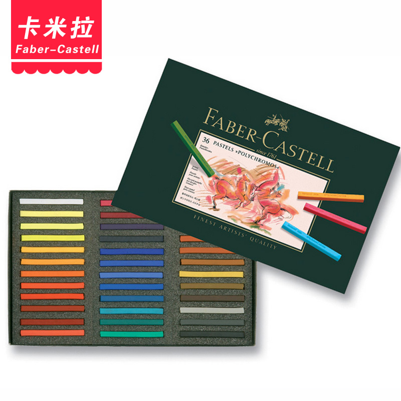 Free shipping germany faber polychromos artist grade 36 colors professional color chalk pastel green box