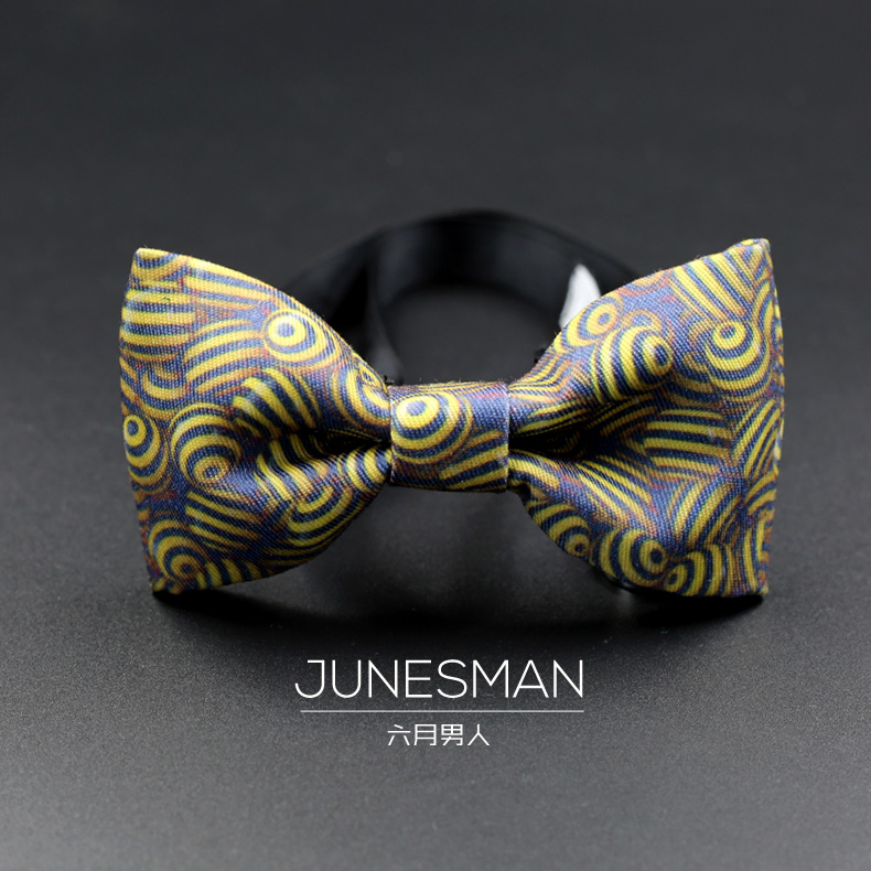 Free shipping handmade crafts custom models nano waterproof tie bow tie fashion printing hit color to send gift