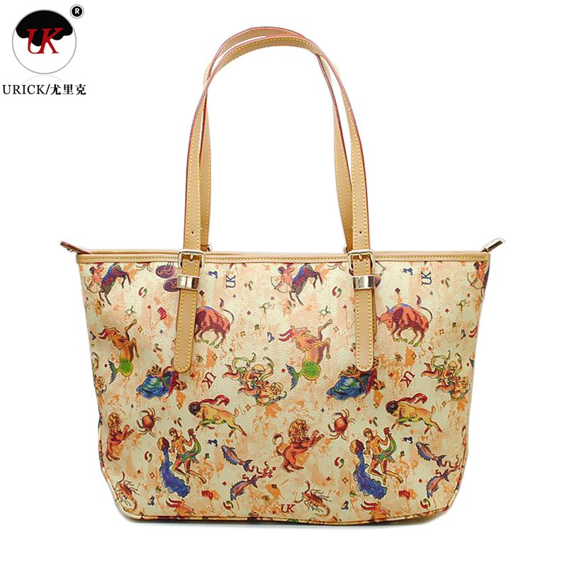 Free Shipping In Europe And America Ol Retro Uk Handbag With Genuine Leather Lady Bag