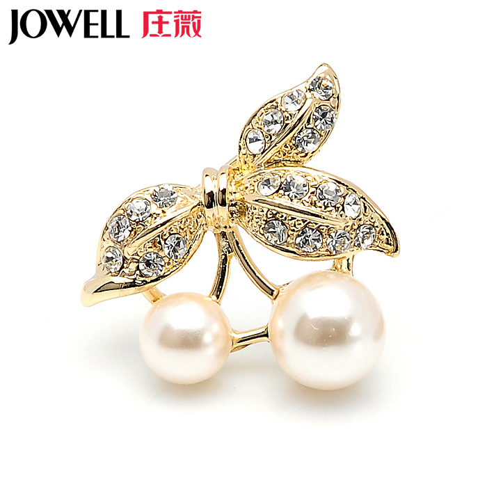 Free shipping jewelry accessories female suit new fashion alloy diamond brooch pearl brooch pin brooch korean version of 440