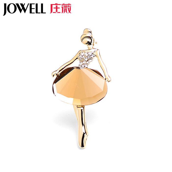 Free shipping jewelry accessories female suit new fashion alloy rhinestone brooch pin brooch korean version of the dancers 794