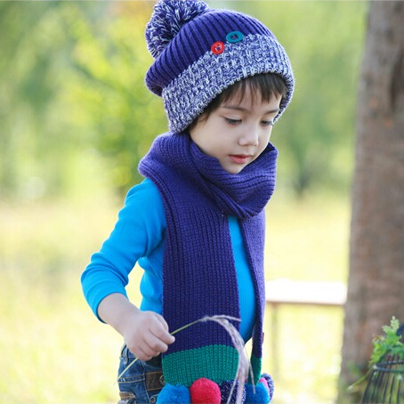 9c911405302 Get Quotations · Free shipping korean children hat scarf piece baby hats  wool hat winter hat knitted hat ear