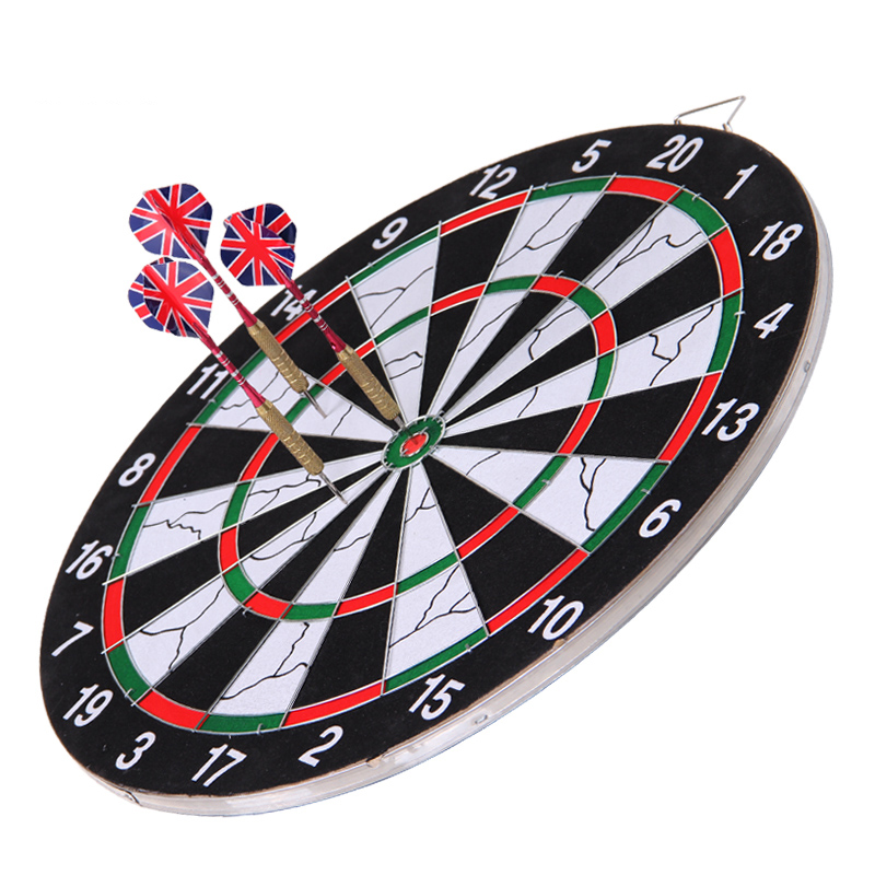 Free shipping magnetic dartboard suit children tuba sided flocking thickening dartboard darts send needle