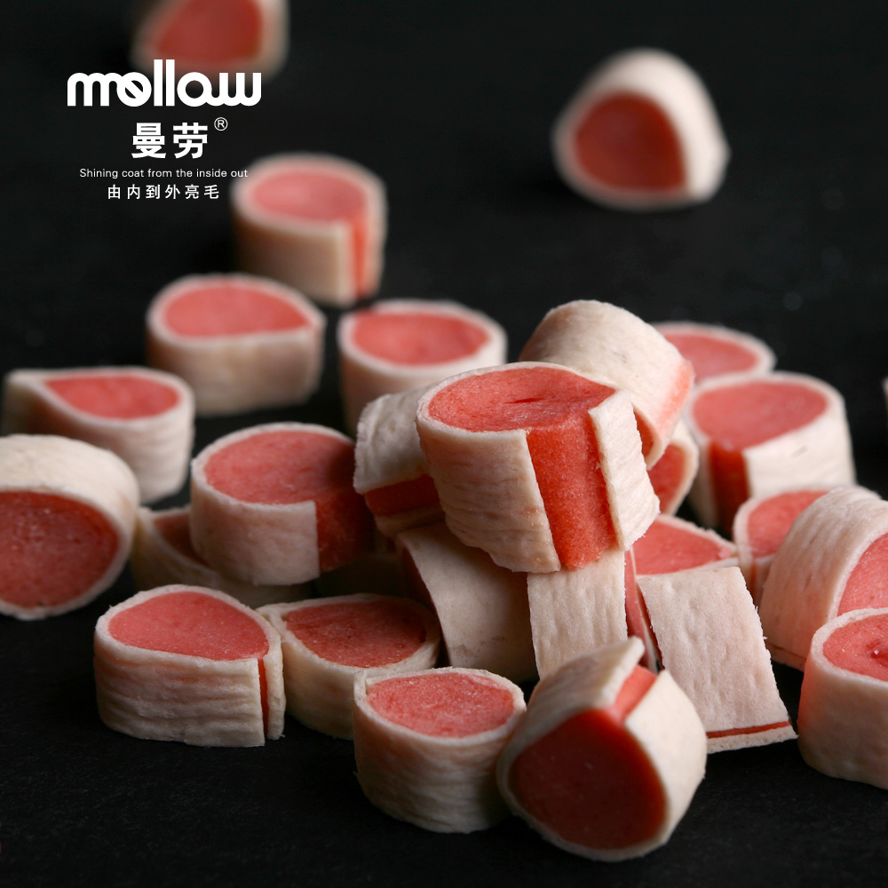 Free shipping manlao bright hair sushi 400g meat jerky pet treats dog snacks pet snacks sushi rolls