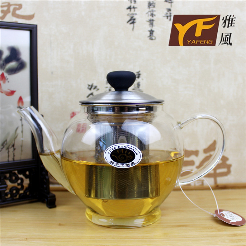 Free shipping new yafeng fengming pot pure handmade pyrex glass teapot tea pot direct fire pot coffee pot