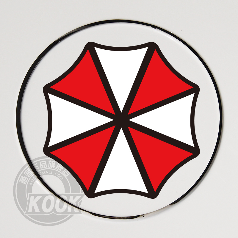Free shipping resident evil umbrella car scratches personalized car stickers car fuel tank cap car stickers reflective stickers