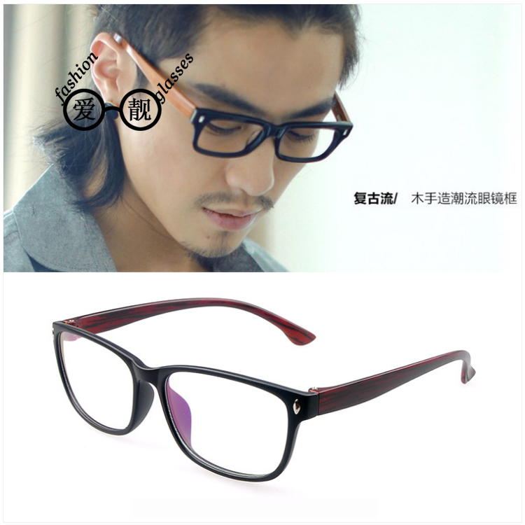 Free shipping retro wood glasses box fashion glasses frame glasses frame men women fashion daren necessary