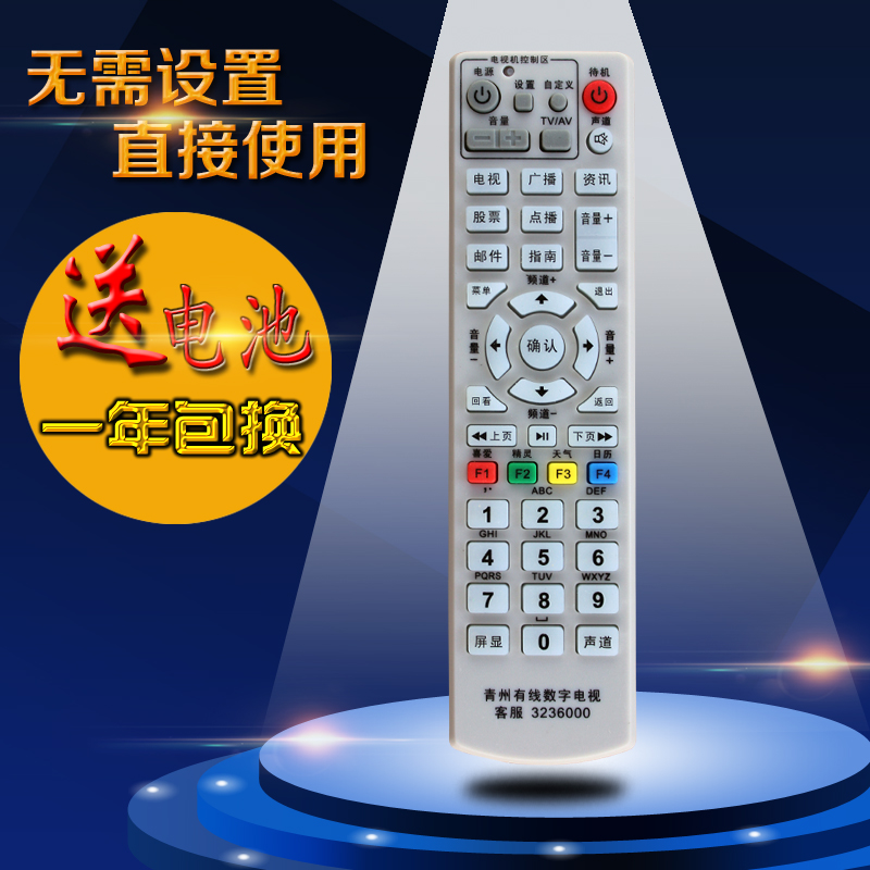 Free shipping! shandong weifang qingzhou cable digital tv broadcasting top box remote control