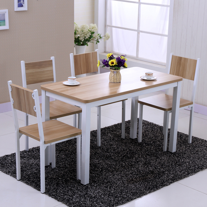 Get Quotations · Free Shipping Small Apartment Dining Table Minimalist  Modern Wood Dining Table Dining Table And Four Chairs