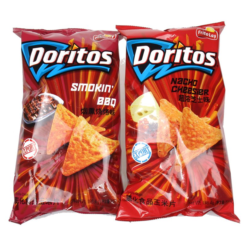 [Free shipping] taiwan's imports of doritos doritos super concentrated cheese nachos zero food