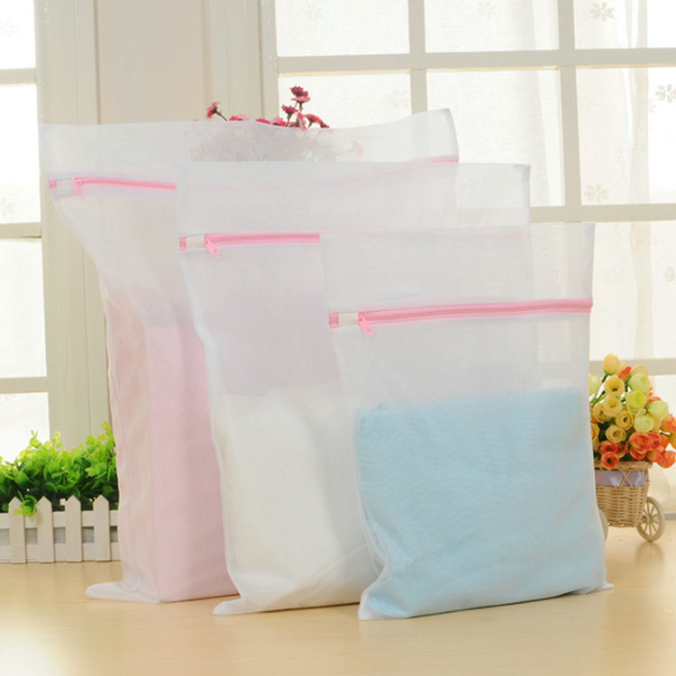 Free shipping thicken fine mesh laundry bag clothing care wash bag travel pouch suit
