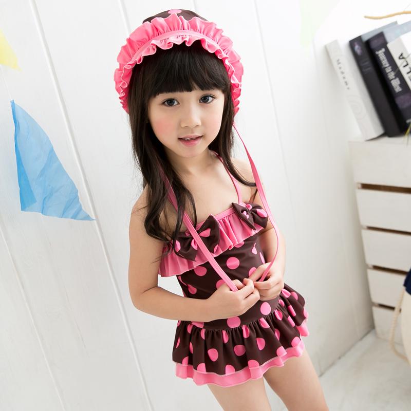2f777ddbe5 Get Quotations · Free shipping to send a swimming cap korean fashion  children's swimwear kids swimwear girls baby siamese