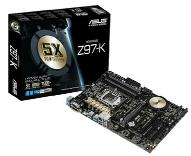 Free shipping to send fan asus/asus z97-k r2.0 motherboard z97/1150 deluxe board