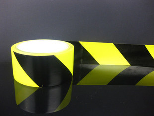Free shipping warning tape colored tape 4.8 cm width * 20 yards black/yellow zebra tape 4.8 cm home
