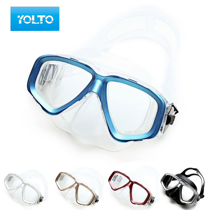 Free shipping yolto mirror box to send children swimming goggles adult men and women myopia diving mask snorkeling goggles mirror