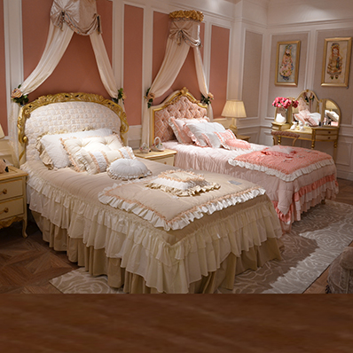 French beds princess bed wood bed children's room villa european gold bed cloth bed children bed 1. m bed