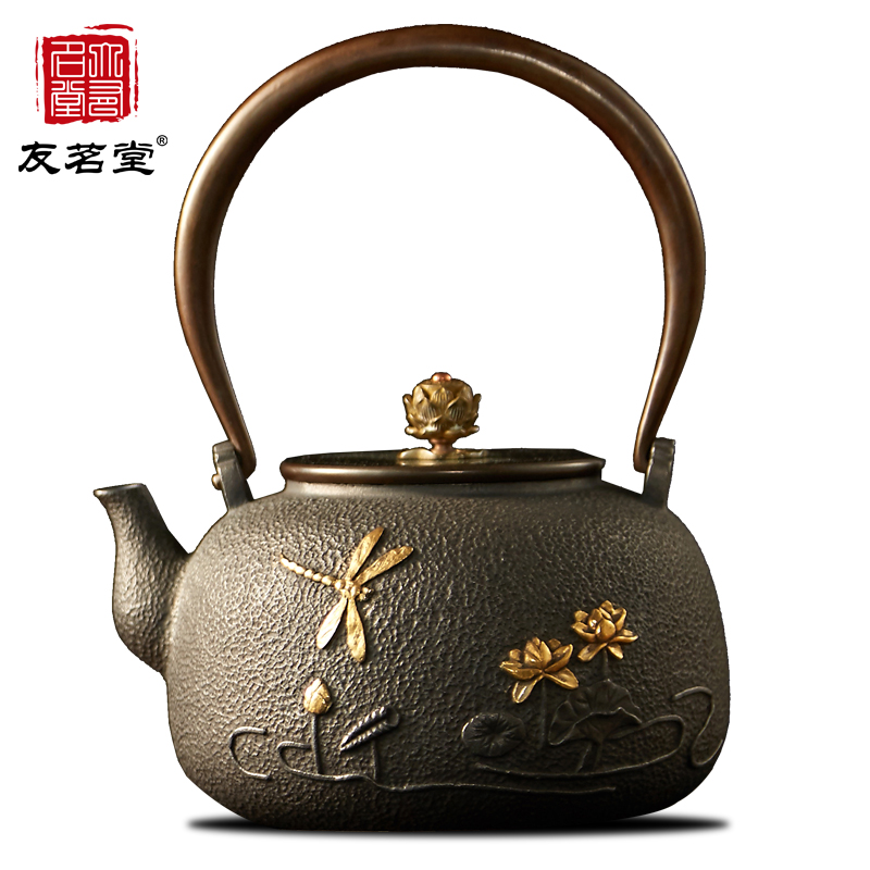 Friends of the ming tang uncoated cast iron teapot teapot tea kettle tea kettle teapot gift genuine iron teapot