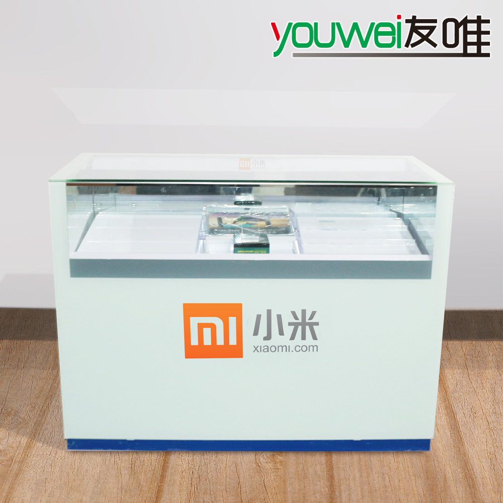 Friends of the only new millet phone handsets showcase counter counter counter iron ledxiaomi bright display cabinet