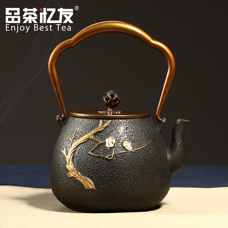 Friends recalled tea kettle japan uncoated cast iron pot cast iron teapot tea kettle filled with plum teapot boils water